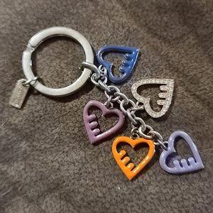 Coach key chain, bag charm